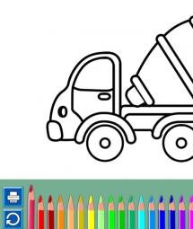 大型卡车填颜色H5