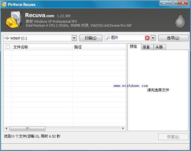 Recuva(恢复被误删的文件) V1.52.1086绿色免费版
