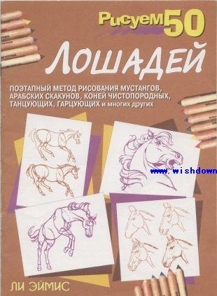 马的简笔画-50个马的画法