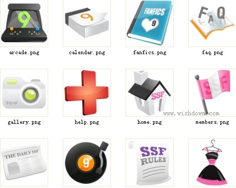 电脑桌面卡通图标 ico格式 png格式_wishdown.com
