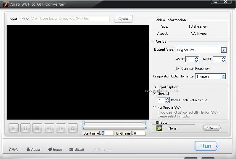 Aoao SWF to GIF Converter(SWF转GIF) 绿色特别版