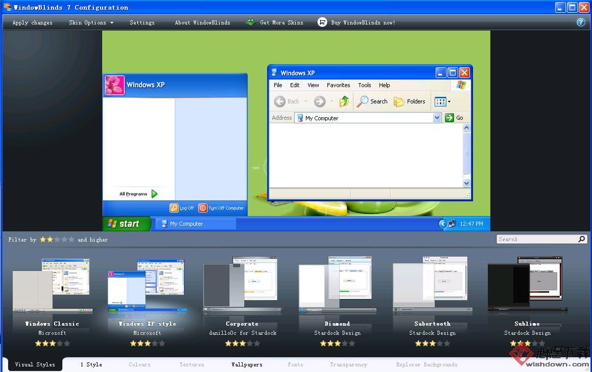 WindowBlinds_实现XP透明主题的软件 v10.62 官方版
