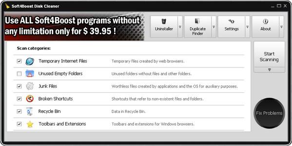 系统清理软件Soft4Boost Disk Cleaner V8.8.9.447 免费版