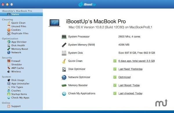 iBoostUp mac版_系统清理软件 V5.0.5 官方版