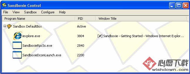Sandboxie_沙盘程序v5.26 官方最新版_wishdown.com