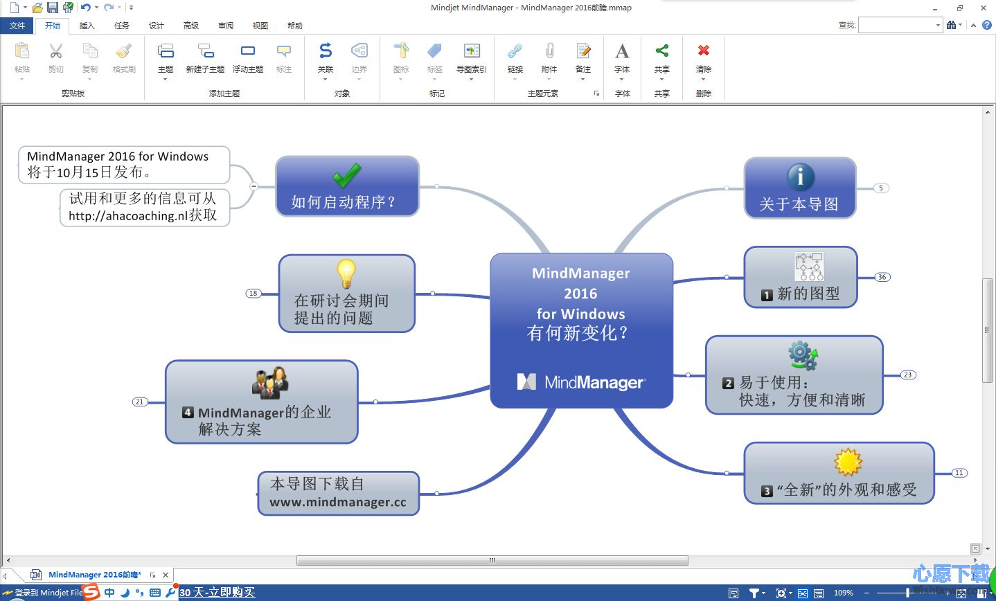 MindManager(思维导图软件)64位 v2016 官方最新版