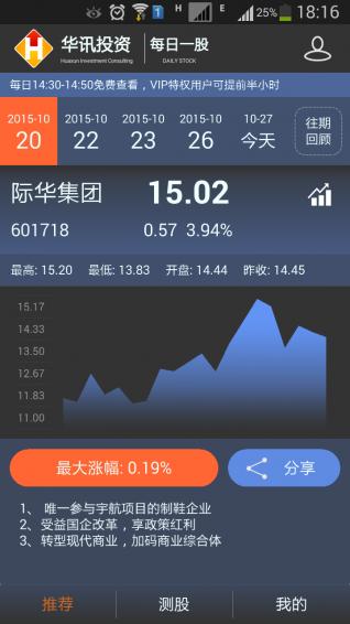 华讯每日一股 v2.32 安卓版
