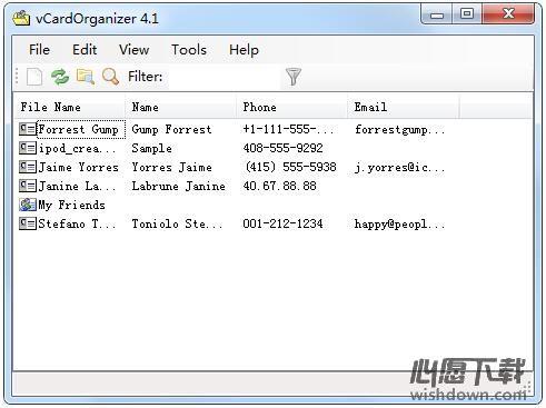 vCardOrganizer_电子名片管理软件 v4.1
