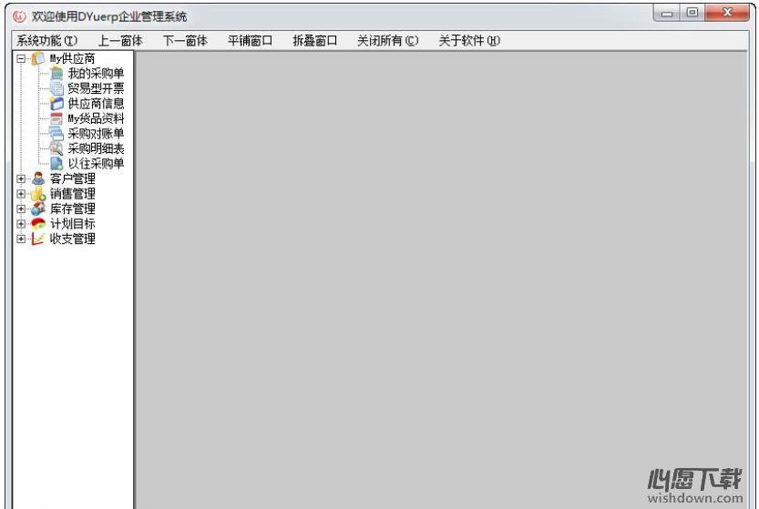 DYuerp管理系统v07.03 官方版_wishdown.com