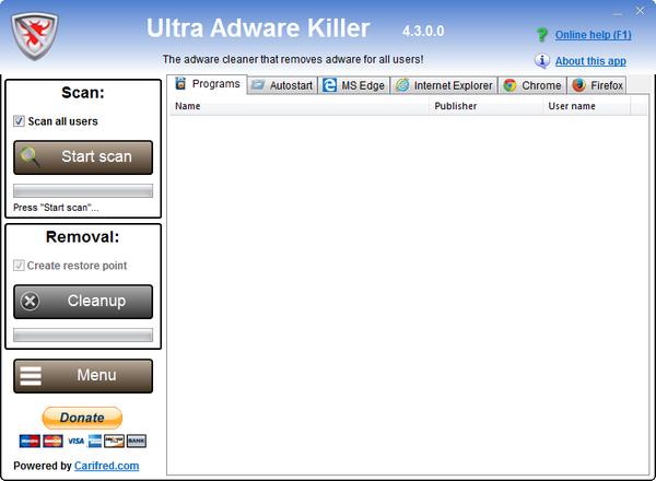 Ultra Adware Killer_超级广告杀手 v4.3.0.0绿色版