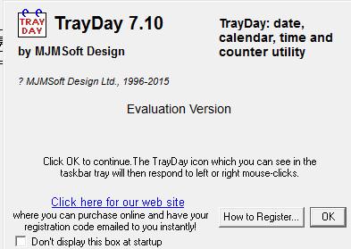 TrayDay_日期时间查看软件 v7.1 官方版