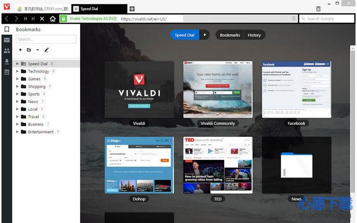 Vivaldi浏览器 v1.15.1147.64 官网版