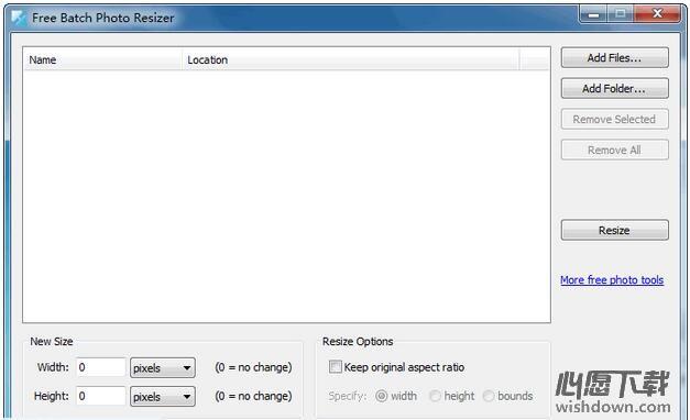 Free Batch Photo Resizer_图片尺寸批量修改软件 v2.4官方版