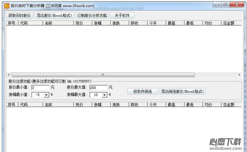 股价实时下载分析器 v1.00 官方版