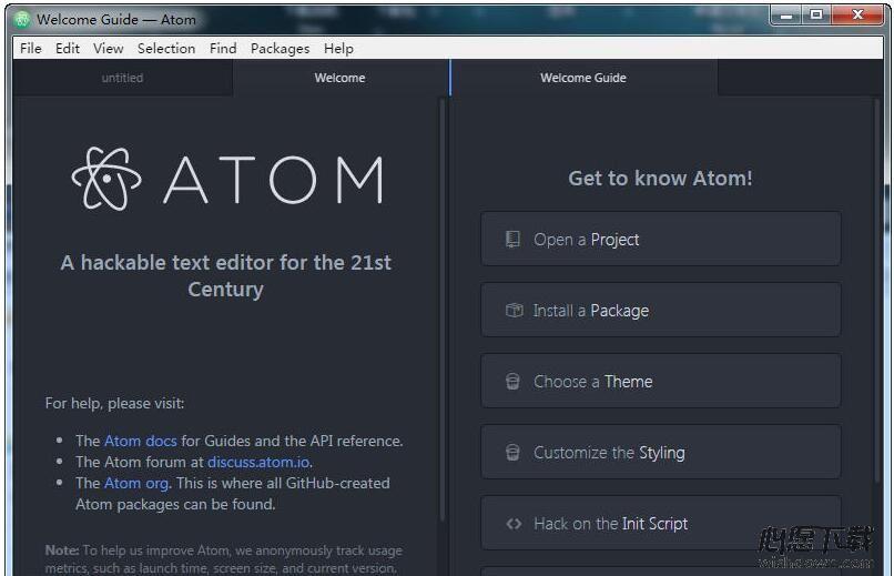 Atom编辑器 v1.30.0 Beta 2免费版