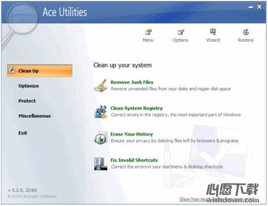 Ace Utilities_系统垃圾清理工具 v6.2.1 Build 290 官方版