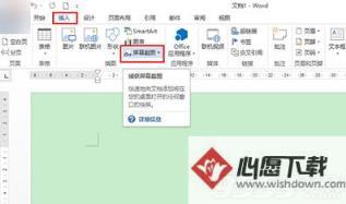 office2013怎么屏幕截图?   心愿下载教程