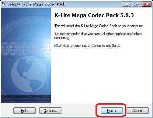 全能影音格式解码器(K-Lite Mega Codec Pack)