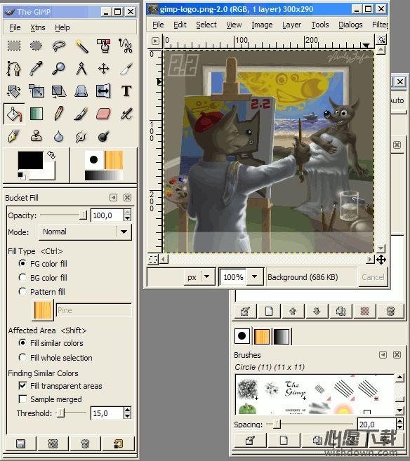 The GIMP for Windowsv2.10.4 官方版_wishdown.com