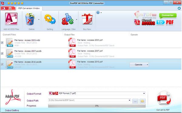 Access转换到PDF转换器 v3.0官方版