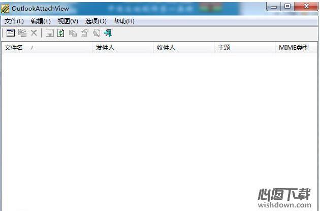 OutlookAttachView(邮件附件查看工具) V3.02 英文绿色版