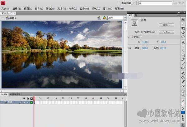 Adobe Flash CS4绿色版 V10.0简体中文版_wishdown.com