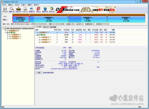 diskgenius破解版(硬盘修复分区工具)v5.0.0绿色专业版_wishdown.com