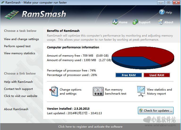让你的计算机跑的更快 RamSmashv2.12.14.2015 官方版_www.rkdy.net