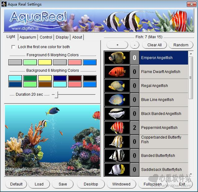 3D鱼水族馆屏保(喂鱼逗鱼的屏保)_wishdown.com