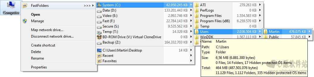 FastFolders_文件/文件夹快速访问工具v5.7.1 官方版_wishdown.com