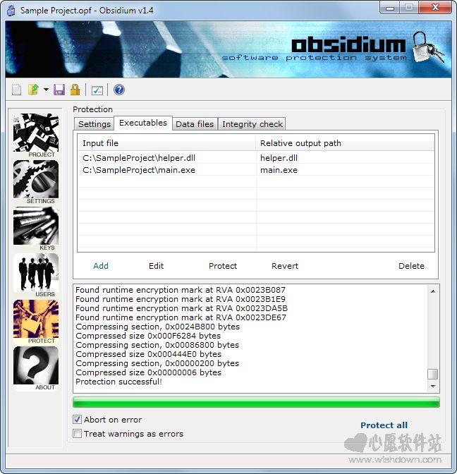 Obsidium(软件保护壳)v1.6.4 Build 4 官方版_wishdown.com