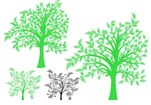 ps手绘树笔刷 免费版