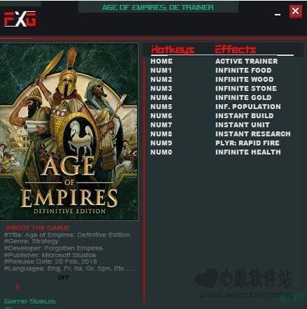 帝国时代终极版十项修改器 2018最新版