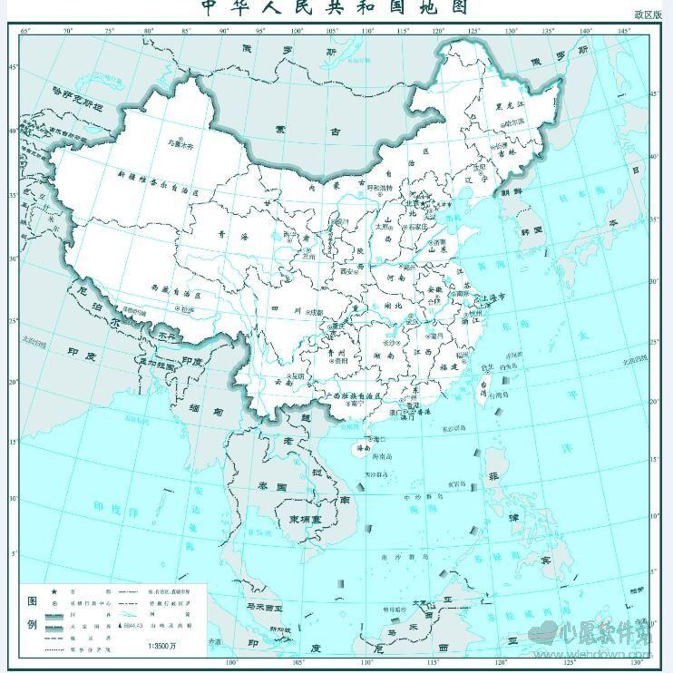 中国地图打包全图高清版_wishdown.com