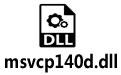 msvcp140d.dll 64/32位(附丢失修复办法)