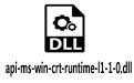 api-ms-win-crt-runtime-l1-1-0.dll 32/64位