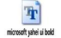 microsoft yahei ui bold light/bold/regular版