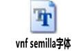 vnf semilla字体