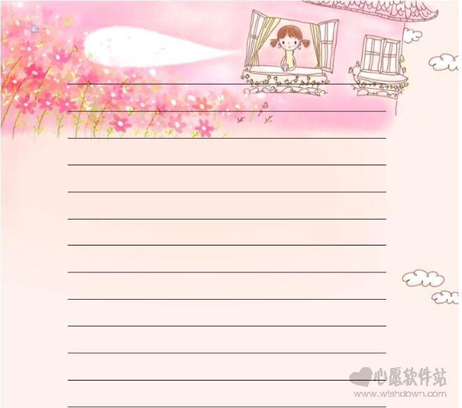 word信纸背景模板_wishdown.com