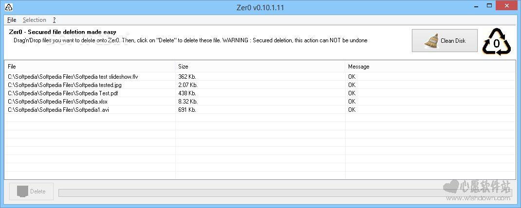 Zer0(文件强删软件)v0.17.0.20 绿色中文版_wishdown.com