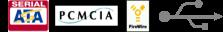 USB,SATA,FireWire,PCMCIA徽标