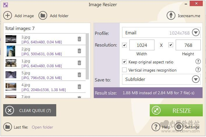 Image Resizer(右键重新设置图片大小) v2.08 官方版
