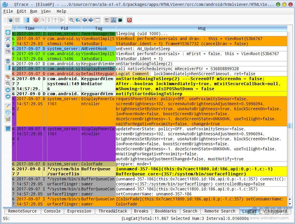 QTrace_Android系统调试与跟踪工具v0.2.1.1 官方版_wishdown.com