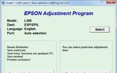 爱普生l365打印机清零软件 v1.0免费版
