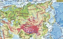 亞洲地圖高清版大圖電子版
