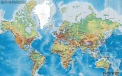 世界地图英文版高清版大图