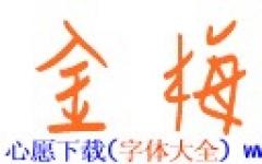 金梅��P��性字形字体