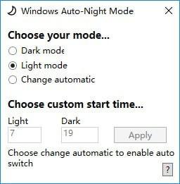 Windows Auto Night Mode(色调模式调整软件)V1.0 电脑版