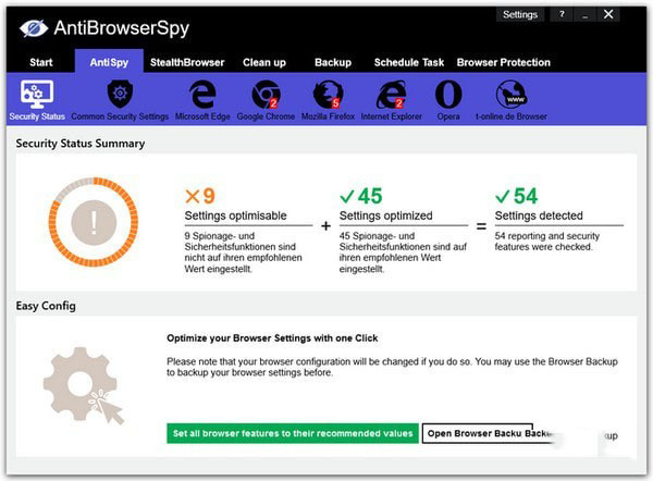 AntiBrowserSpyV2019.258 電腦版