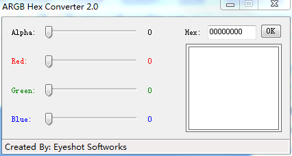 ARGB Hex Converter(android颜色查询转换器)V2.0 电脑绿色版
